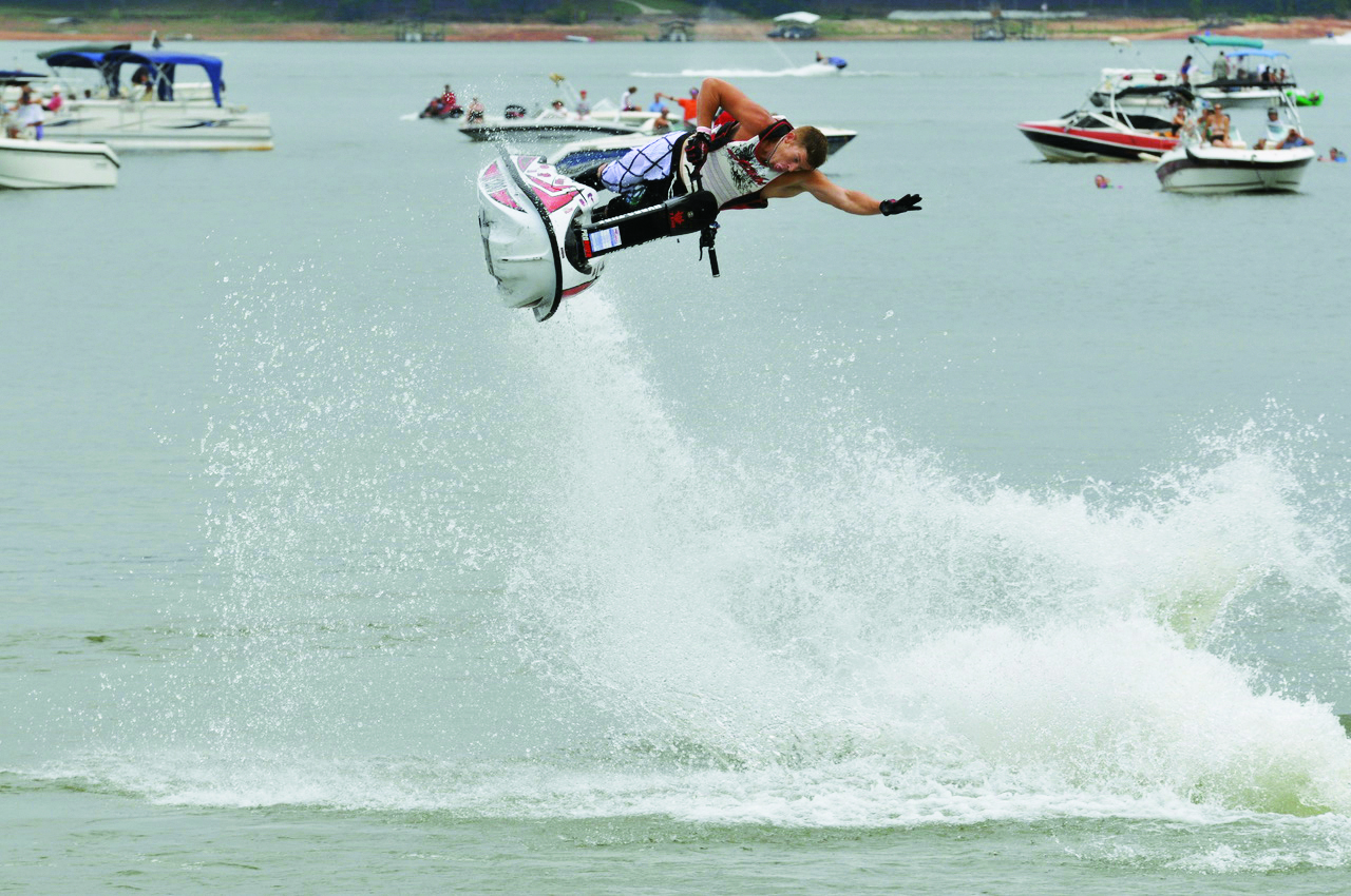 The freestyle event is always popular at Pro Watercross events. (File photo)