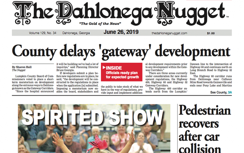 The June 26 edition of The Dahlonega Nugget is out now