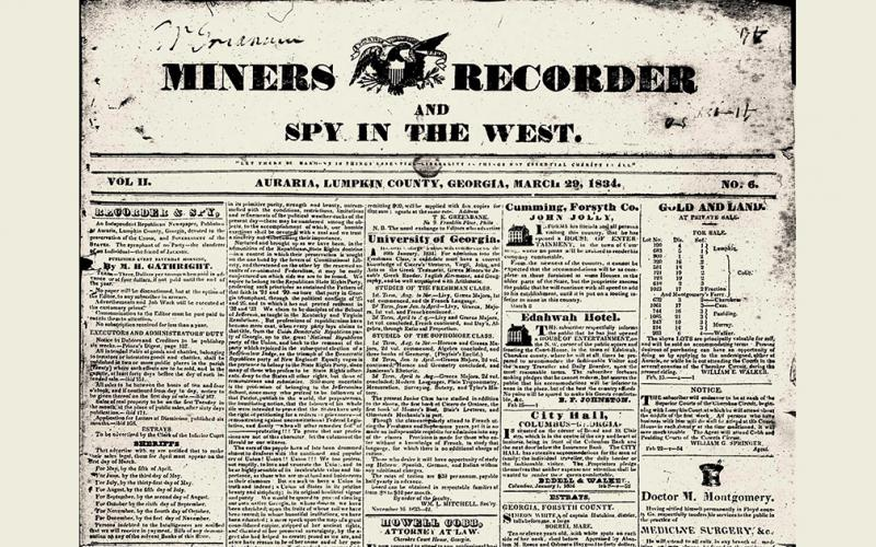 1830s Miners Recorder newspaper added to library's