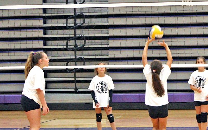 Along with drill stations, campers taking part in the LCHS Volleyball Camp were able to use what they learned from the LCHS coaching staff and LCHS players in game situations.