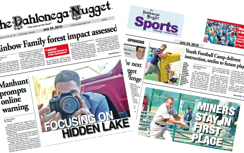 THE JULY 24 EDITION OF THE DAHLONEGA NUGGET IS OUT NOW