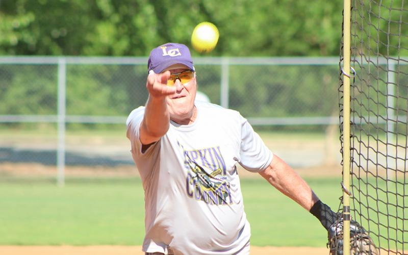 "Lumpkin County Miner pitcher Larry ""The Rocket"" Rodgers and Jimmy ""Four Quarters"" Dollar have proven themselves to be one of the best pitching rotations in the Clayton League this season."