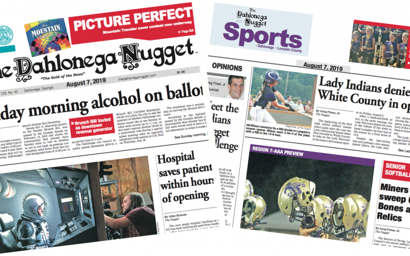 THE AUGUST 7 EDITION OF THE DAHLONEGA NUGGET IS OUT NOW. CHECK OUT THIS WEEK'S ARTICLES