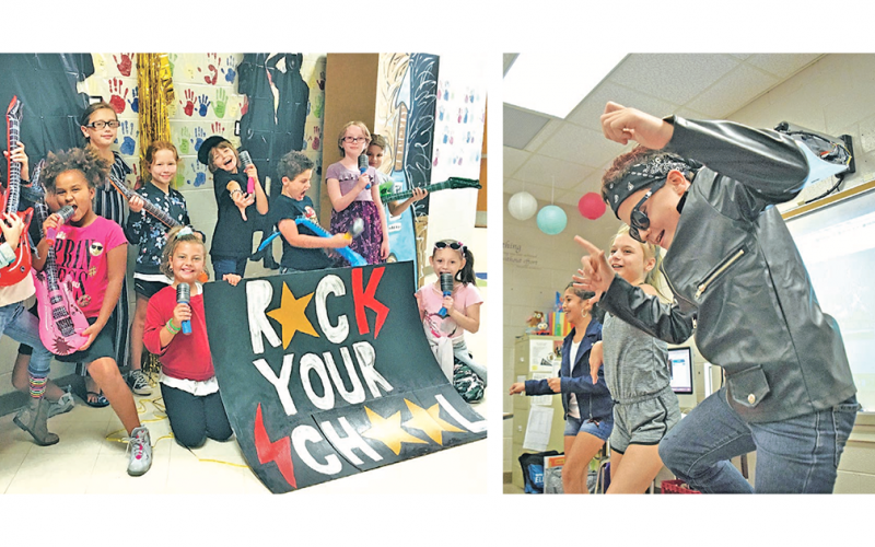 Blackburn Elementary students give their best rockstar performances during the recent Rock Your School Day.