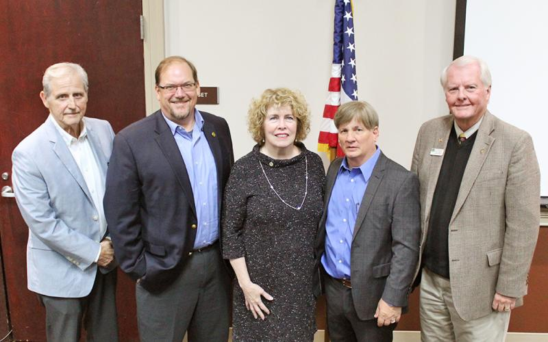 City council candidates, from left, Dewey Moye, Tony Owens, JoAnne Taylor, Johnny Ariemma and Ron Larson.
