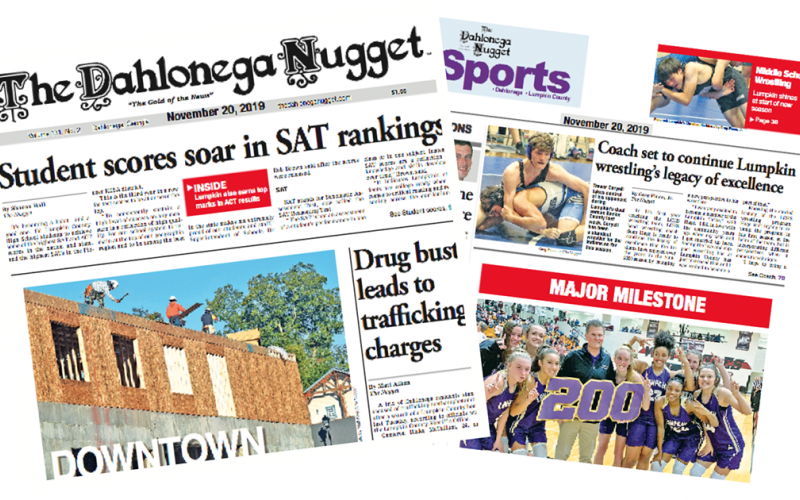 THE NOVEMBER 20 EDITION OF THE DAHLONEGA NUGGET IS OUT NOW. CHECK OUT THIS WEEK'S ARTICLES