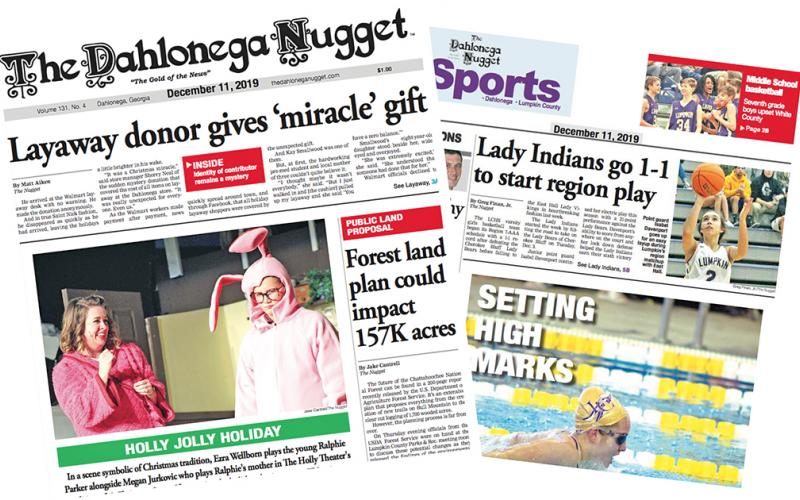 THE DECEMBER 11 EDITION OF THE DAHLONEGA NUGGET IS OUT NOW. CHECK OUT THIS WEEK'S ARTICLES