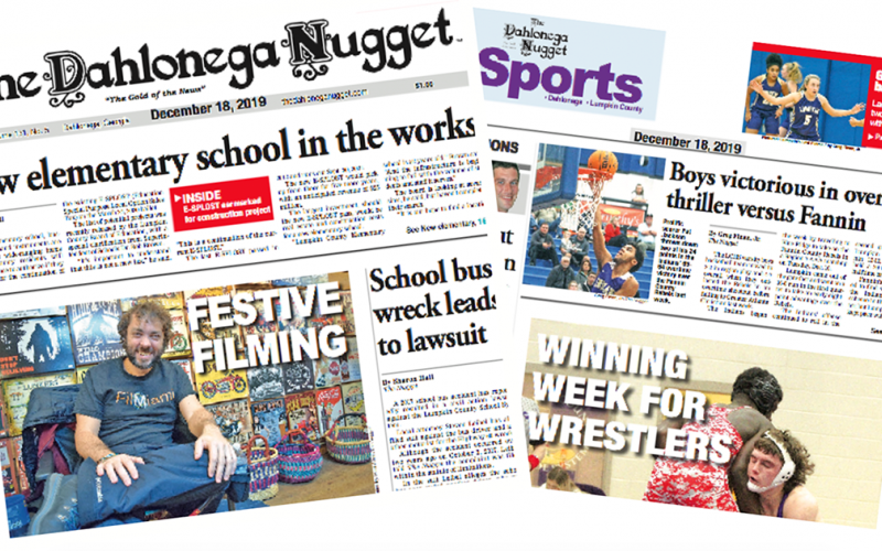 THE DECEMBER 18 EDITION OF THE DAHLONEGA NUGGET IS OUT NOW. CHECK OUT THIS WEEK'S ARTICLES