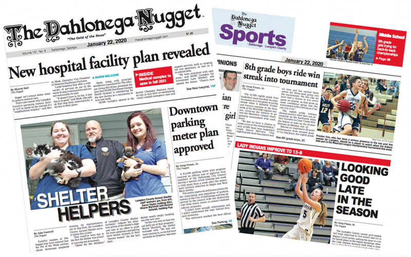 THE JANUARY 22 EDITION OF THE DAHLONEGA NUGGET IS OUT NOW. CHECK OUT THIS WEEK'S ARTICLES
