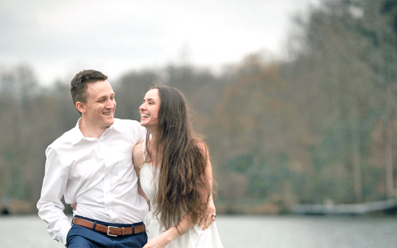 It wasn't easy but Trey and Brittany Greer found a way to get married in the midst of a pandemic by shifting their plans and taking their ceremony to Facebook Live. (Photo by Bethany O'Bryant Photography)