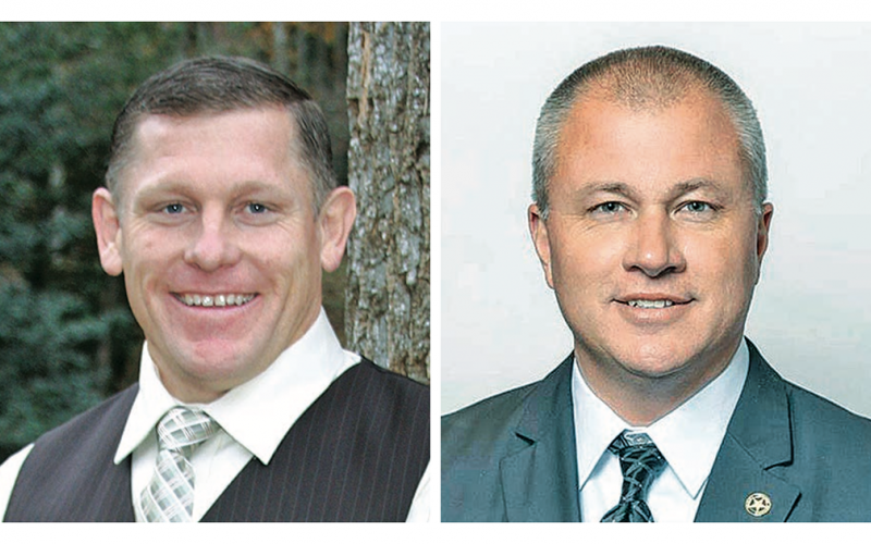 Local sheriff candidates Jack Jones (left) and Stacy Jarrard will face off during the General Primary June 9.
