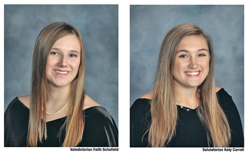 Lumpkin County High School's class of 2020 Valedictorian Faith Schofield and Salutatorian Katy Carroll