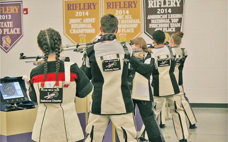 The Lumpkin County High School rifle team extended its undefeated record with its seventh win of the year with a victory over Parkview High School.