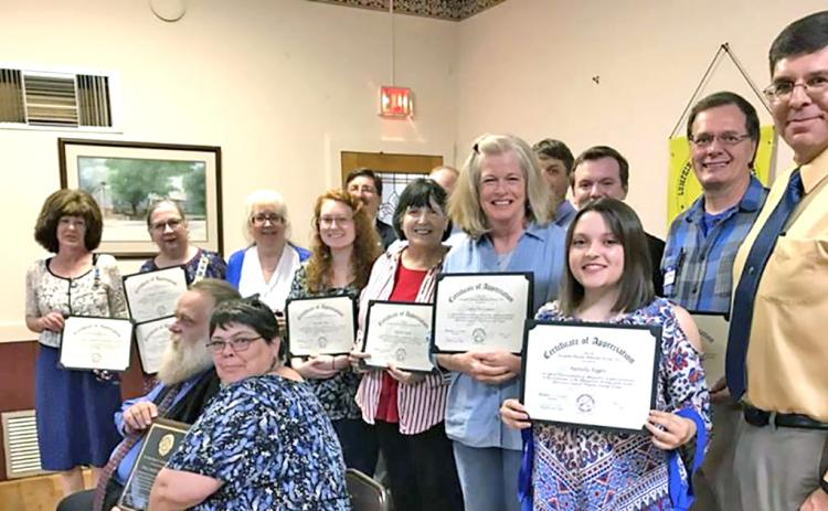 Certificates of Appreciation were presented to the those pictured.