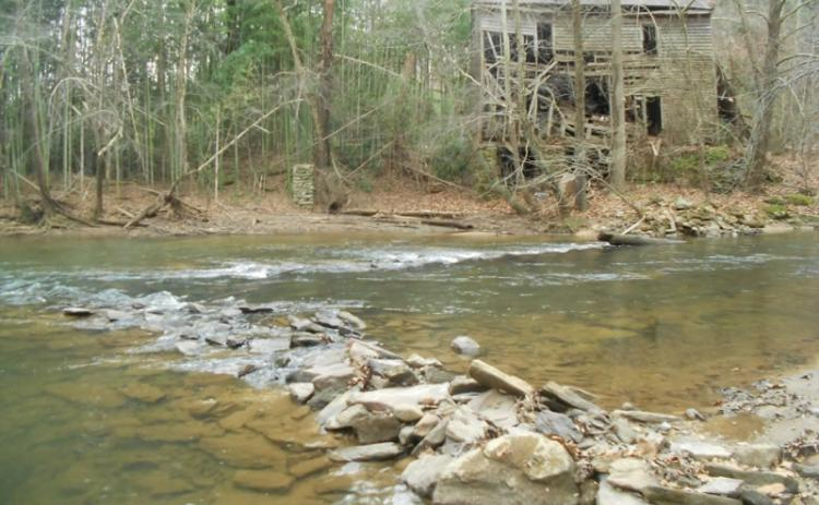 Shown are ruins of an old structure along the Etowah River. Many remnants of the past still exist for visitors to discover on the Etowah Water Trail. Photo courtesy of Etowah Water Trail