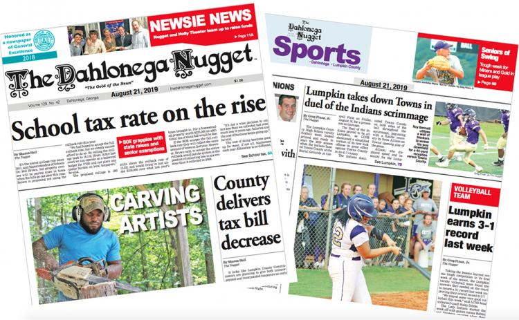 THE AUGUST 21 EDITION OF THE DAHLONEGA NUGGET IS OUT NOW. CHECK OUT THIS WEEK'S ARTICLES