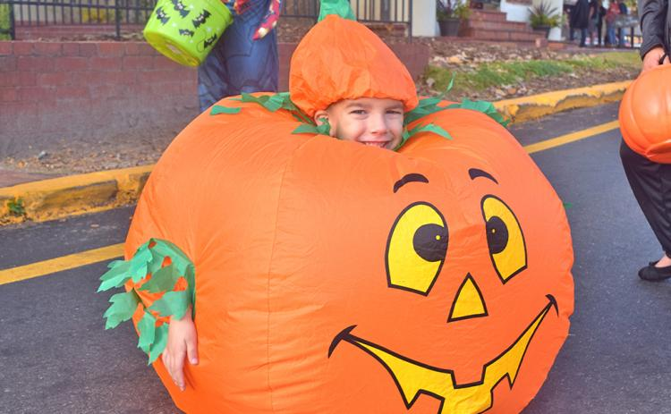 Eli Turk had a spooktacular time at last year's downtown trick-or-treat fest in Dahlonega.
