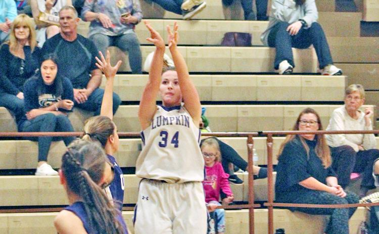 Lumpkin's Madison Powell makes a short jumper on her way to scoring 19 points versus the Union County Lady Panthers last week.