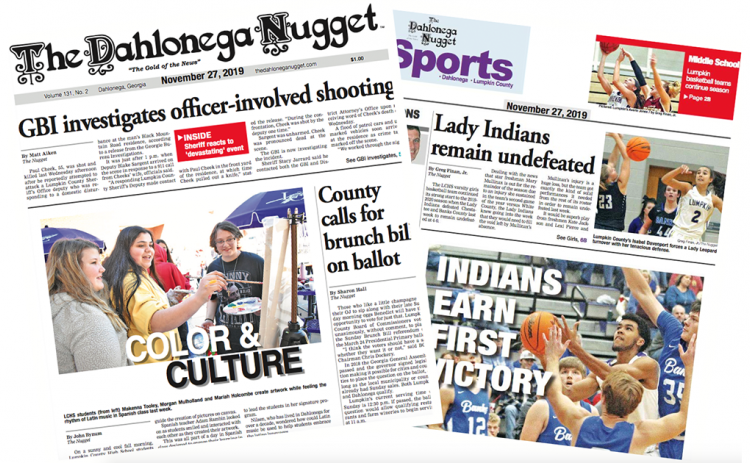 THE NOVEMBER 27 EDITION OF THE DAHLONEGA NUGGET IS OUT NOW. CHECK OUT THIS WEEK'S ARTICLES