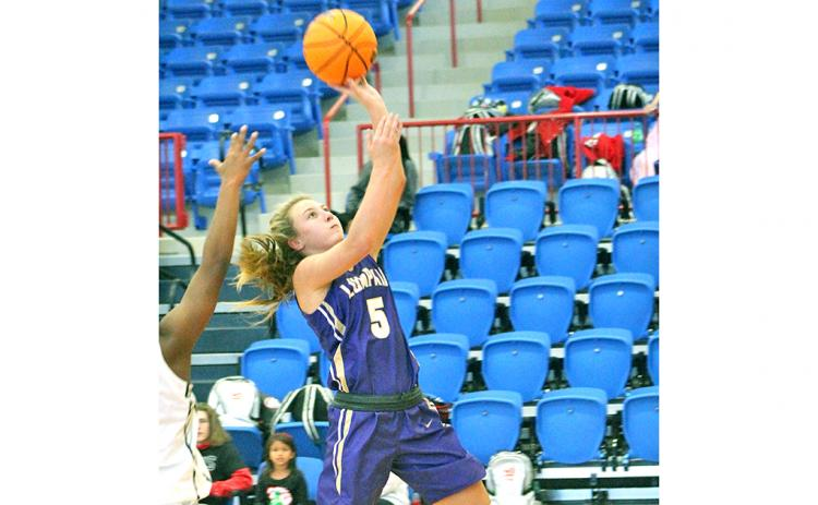 Lady Indians freshman Lexi Pierce gets two points off a layup. With a season-ending injury for Mary Mullinax, Pierce has been picking up the slack for Lumpkin over the course of the past few games.