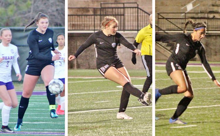 Lumpkin County soccer standouts Reagan Spivey, Ashley Read and Hope Kenney will take part in the Southeast All-American Soccer Showcase.