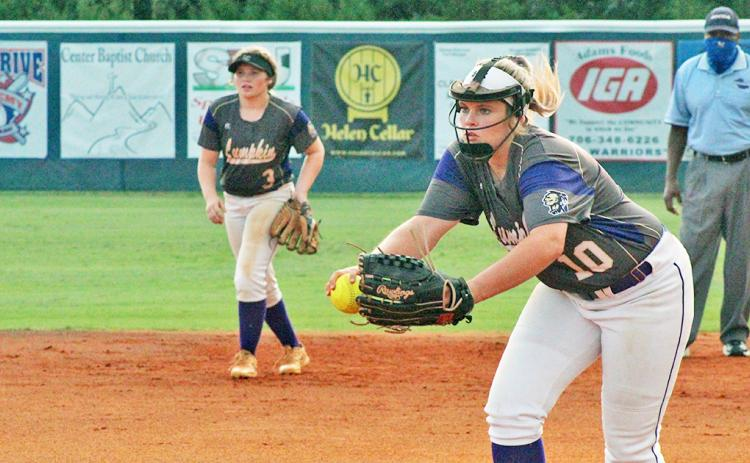 Emmie Graham pitched all nine innings of the LCHS softball team's extra-inning win over White County, holding the warriors to just three runs.