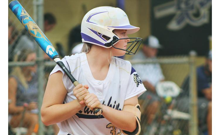 Senior Lauren English connected for three hits and four RBIs in Lumpkin's 8-2 win over region rival Dawson County last week.