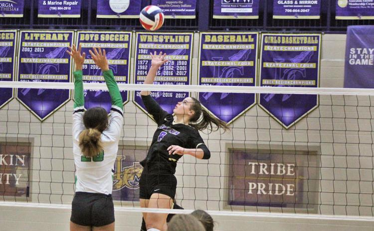 Lumpkin's Makenzie Caldwell lived above the net during the team's historical 2020 season, compiling a host of impressive stats.