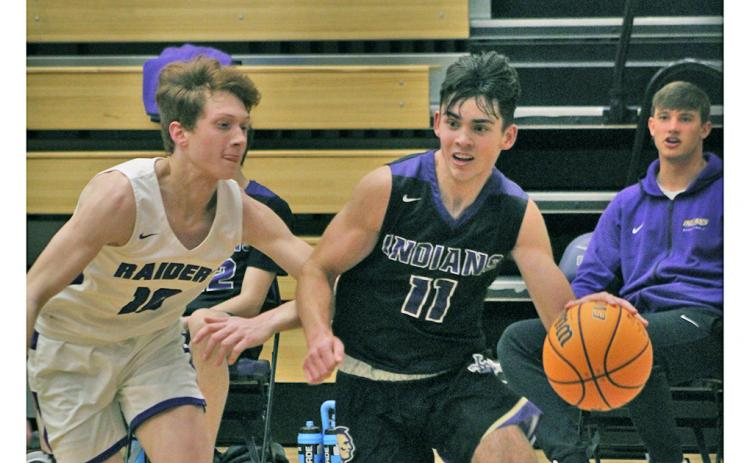 Junior shooting guard Jones Harris scored a team-high 22 points, accounting for nearly half of the team's points in its 79-52 loss to the North Forsyth Raiders.